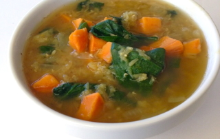 sweet potato and greens dal by .
