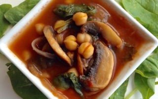 mushroom:garbanzo dish by .
